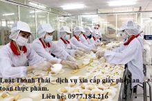 Thủ tục xin cấp giấy chứng nhận an toàn thực phẩm với sản phẩm bánh kẹo